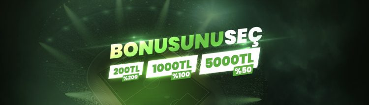 5000 TL İlk Para Yatırma Bonusu