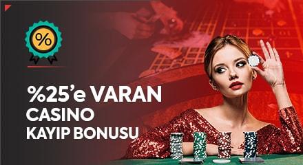 %25 casino kayıp bonusu