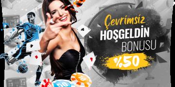 %50 Çevrimsiz Casino Hoşgeldin Bonusu